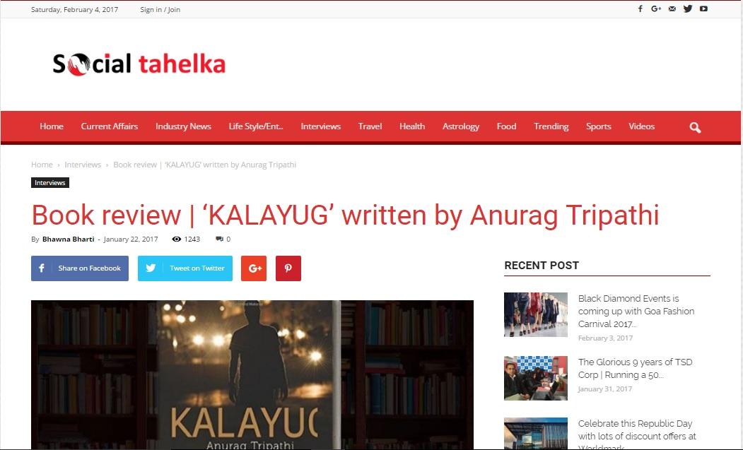 Book Review social Tahelka